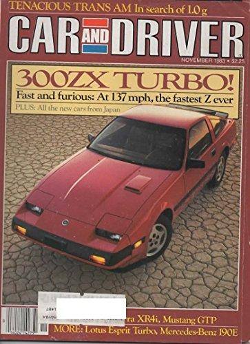 Car and Driver Magazine, November 1983 (Vol 29, No 5) (Bronco Driver Magazine)