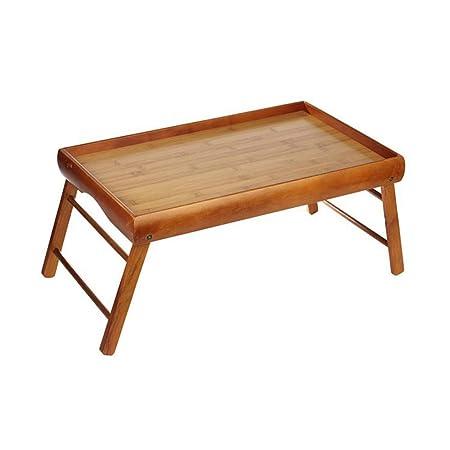 Desayuno de madera en cama plegable bandeja para servir multi ...