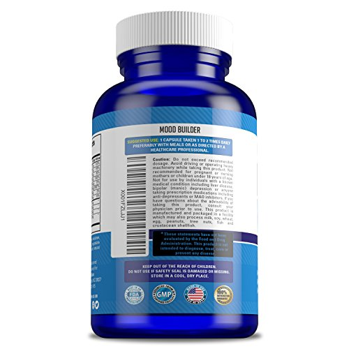 Mood Builder - Premium Mood Support Supplement | Superior Efficiency Natural Stress Relief | Vegan Dietary Herbal Calming Capsules for Men & Women | Boosts Relaxation & Overall Well being by LifeFit Labs (Image #3)