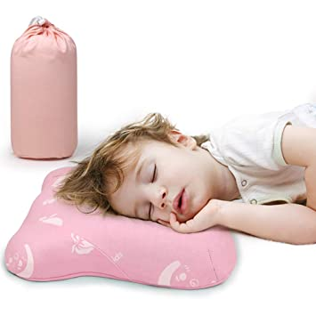 Small Nap Pillow for Kids 15 x 10 Pink Toddler Pillow for Sleeping
