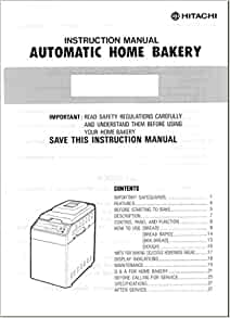 Hitachi bread machine manual model hb b102 reprint amazon books fandeluxe Images