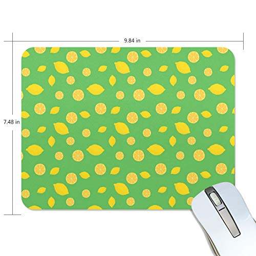 Eye-Catching Green Lemon Rectangle Creative Painting Durable Comfortable Waterproof Smooth Work Home Extra Large Gaming Mouse Pads