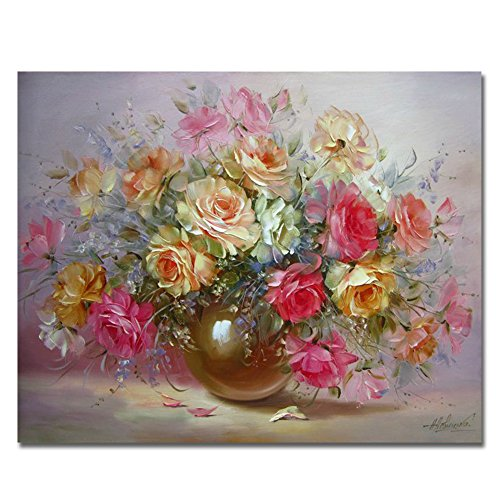 Rihe Diy Oil Painting by Numbers, Paint by Number Kits-Charming Flower-PBN Kit for Adults Girls Kids Christmas 16x20inch (Frameless)
