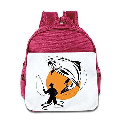 NATY Fly Fishing Cartoon School Backpacks With Pink For (Philadelphia Phillies Youth Backpack)