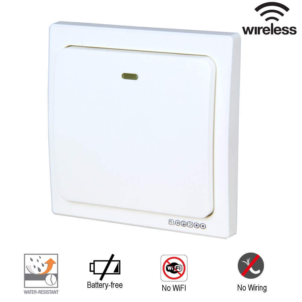 Acegoo Kinetic Light Switch Self Powered Transmitter No Wiring For House Main Image