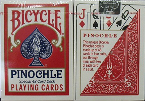 (USPCC 12 RED Decks Bicycle Pinochle Playing Cards)