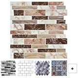 best flooring for a kitchen Peel and Stick Tile Backsplash for Kitchen, Marble Design (10 Sheets)