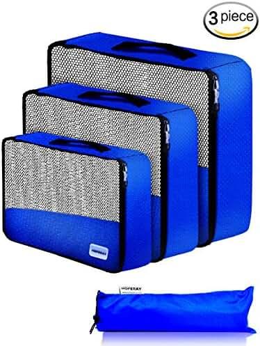 Packing Cubes Travel Organizer Mesh Bags-3 pcs Lightweight Set Travel Gear Bag