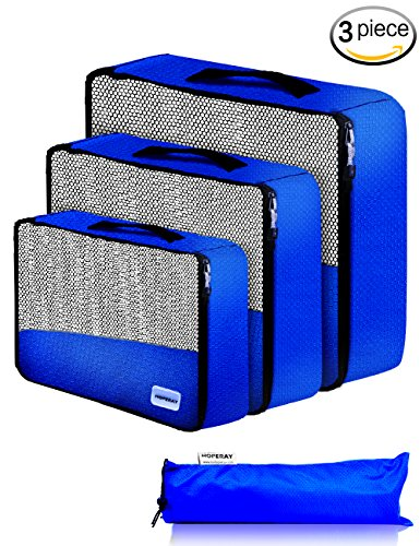 7207a5ff5a Packing Cubes Travel Organizer Mesh Bags - 3 pcs Lightweight Set Travel  Gear Bag Accessories for