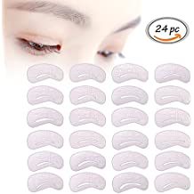 Eyebrow Stencils Template Paper Card, 24 pcs Lady Eyebrow Grooming Beauty Tools Plastic Brow Drawing Shaping Template, Reusable Eyebrow Drawing Guide Card Brow Template DIY Makeup Tools