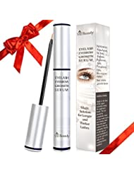 [2018 Premium] Large 6 ml Eyelash Growth Serum & Eyebrow Growth Serum - Enhancer Great For Eyelashes and Eyebrows Growing Thicker and Strengthener