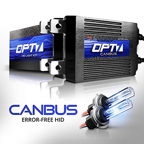 OPT7 Boltzen AC CANbus H7 HID Kit - 5X Brighter - 6X Longer Life - All Bulb Sizes and Colors - 2 Yr Warranty [6000K Lightning Blue Xenon Light]