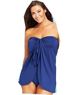 bbba58d19abd4 Lauren Ralph Lauren Flyaway Tummy-Control One-Piece Swimsuit Plus Size  Indigo