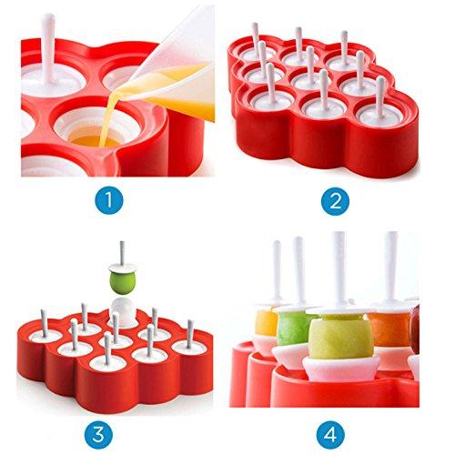 Silikon Mini Ice Pops Form Eis Form Silikon Sticks Eis Form, DIY ...
