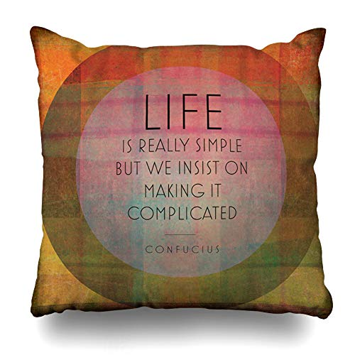 Ahawoso Throw Pillow Cover Form Saying Modern Collage Quotations Abstract Famous Clip Fun Author Words Alphabet Artistic Design Decorative Pillowcase Square 16