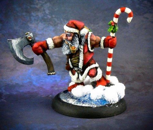 Santa Dwarf 2014 Miniature Reaper Dwarf Santa