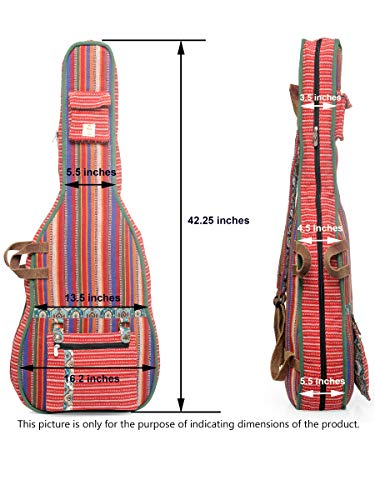 The-House-of-Tara-Grey-Black-Patterned-Handloom-Fabric-Guitar-Bag-Case-for-Men-and-Women