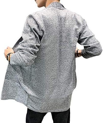 ロング ニットセーター メンズ カジュアル カーディガン