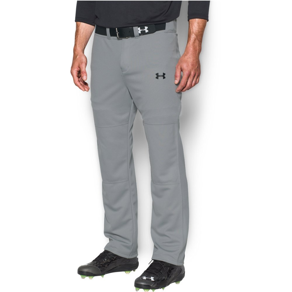 Under Armour Men's Clean Up Baseball Pants, Baseball Gray/Black, X-Large by Under Armour