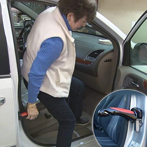 MOSHTU Car Cane Portable Handle Automotive Standing Aid Car Assist Handle Vehicle Emergency Escape Tools with Window Breaker & Seat Belt Cutter
