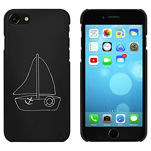 Noir 'Bateau à Voile' étui / housse pour iPhone 7 (MC00090060)