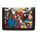 Super Mario Trifold Canvas Wallet by Bioworld Luigi Bowser Wario Mushroom Yoshi Kids