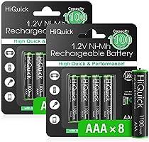 HiQuick 単三充電池 単三電池 充電式ニッケル水素電池 単3電池 大容量2800mAh4本入り液漏れ防止 約1200回使用可能 自然放電抑制 環境保護
