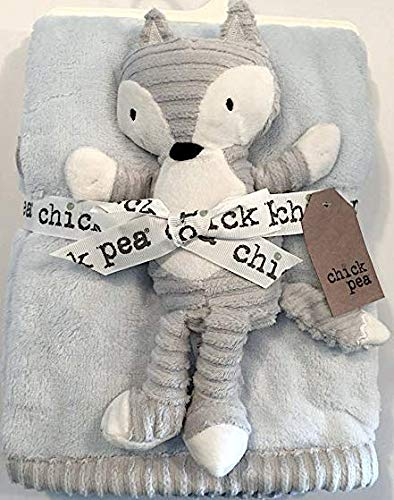 Chick Pea Racoon Grey/White/Blue 2pc Security Blanket