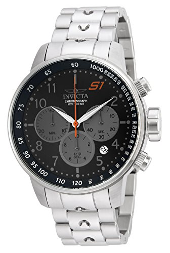 Invicta Men's S1 Rally Quartz Watch with Stainless-Steel Strap, Silver, 28 (Model: 23084)