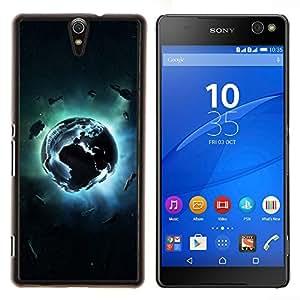 YiPhone /// Prima de resorte delgada de la cubierta del caso de Shell Armor - Planet Explosion - Sony Xperia C5 Ultra