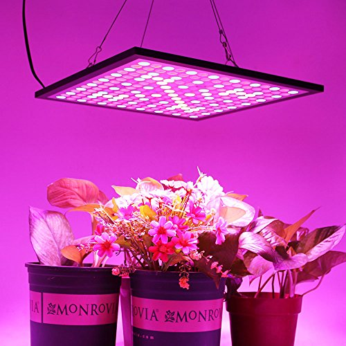 51eIK8hYDeL - KINGBO Reflector 45W LED Plant Grow Light Panel Full Spectrum 225 LEDs 6-Band Includ UV IR with Switch for Indoor Plants Seeding & Growing & Flowering