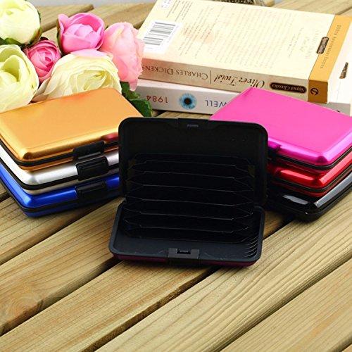 Aluminium Voyage Case Boitier Noir Carte Credit Portable Violet Etui Pochette Boite Hosaire De Boîte Housse Porte Rigide Protection Visite SqZBwt
