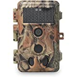 DIGITNOW Trail Camera 16MP 1080P HD Waterproof, Wildlife Hunting Scouting Game Camera with 40Pcs IR LED Infrared Night Vision Up to 65FT /20M, Surveillance Camera 130° Wide Angle 120° Detection