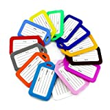 Maydahui Luggage Tags Suitcase ID Labels Bag Name Tag Travel Accessories - (10 colors,Pack of 30)