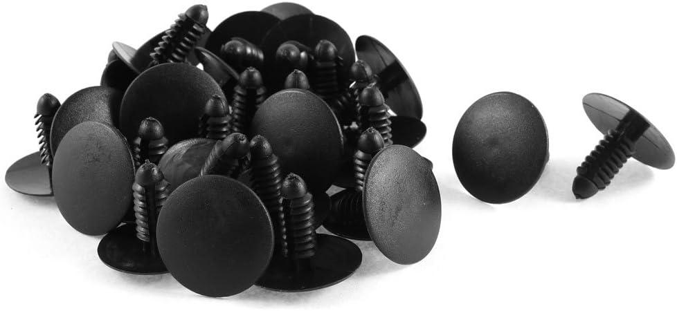 uxcell 30pcs Black Plastic Trim Panel Hood Fasteners Clip