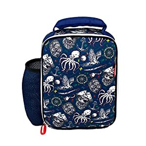 Kids Lunch Bag Boys Pirates Neo prene Insulated Preschool Day Care School Lunch Box