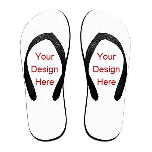 dals Sandals Footwear Sandals Slipper (Large, Black) (Custom Flip Flops)