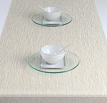 Chilewich Lattice Table Runner, Gold 14u0026quot; ...