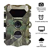 Cyberone Hunting Trail Camera 2.4'' TFTLCD 12MP 1080P 82FT Trigger Distance Infrared Night Vision & Passcode Lock & 8-Month Standby Time & IP66 Waterproof