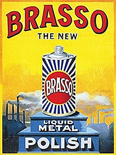 Brasso - The New Liquid Metal Polish - Mini Metal Wall Sign
