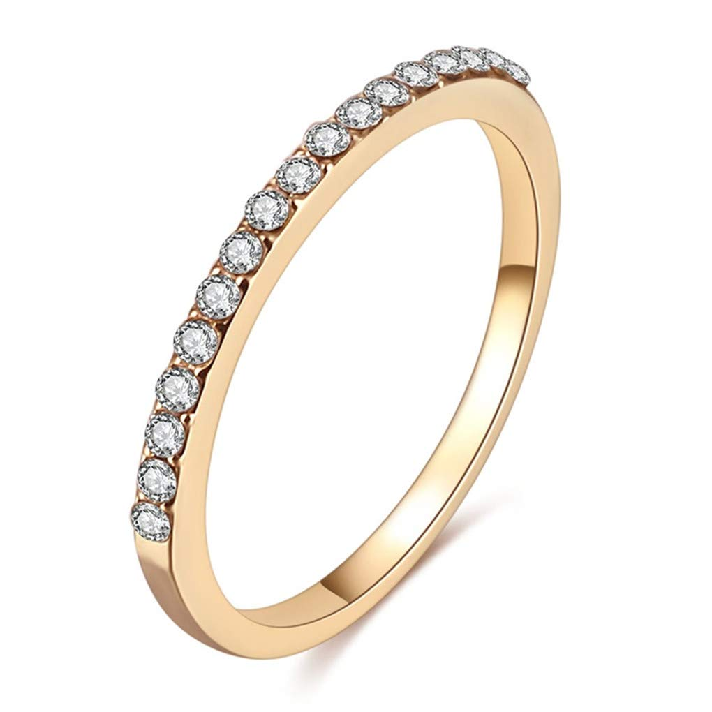DARLING HER Various Style Wedding Crystal Rings Fashion Rings Show Elegant Temperament Jewelry Womens Girls White Silver Filled Wedding Ring