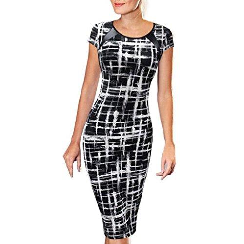 Women Dress,Haoricu Hot Sale!2017 Women Short Sleeve Sexy Slim Party Cocktail Pencil Dress (Asian Size:XL, Black (Asian Women Sexy)