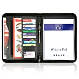 H&S A4 Zipped Conference Folder Business Faux Leather Document Case Bag Portfolio