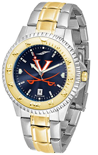 (Virginia Cavaliers Competitor Two-Tone AnoChrome Men's Watch)