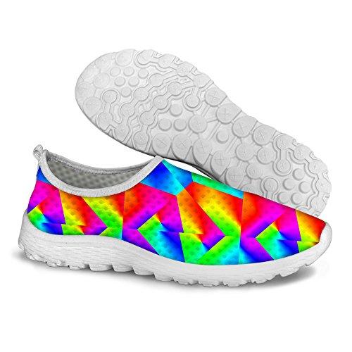 För U Designar Elegant Pläd Glitter Print Bekväm Slip På Mesh Walking Löparskor För Kvinnor Blända 2