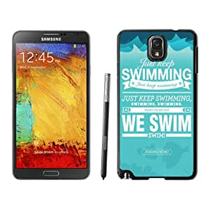 just keep swimming-We swim Black Best Buy Customized Design Samsung Galaxy Note 3 Case
