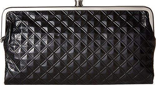 Hobo Womens Genuine Leather Vintage Lauren Clutch Wallet (Black Diamond)