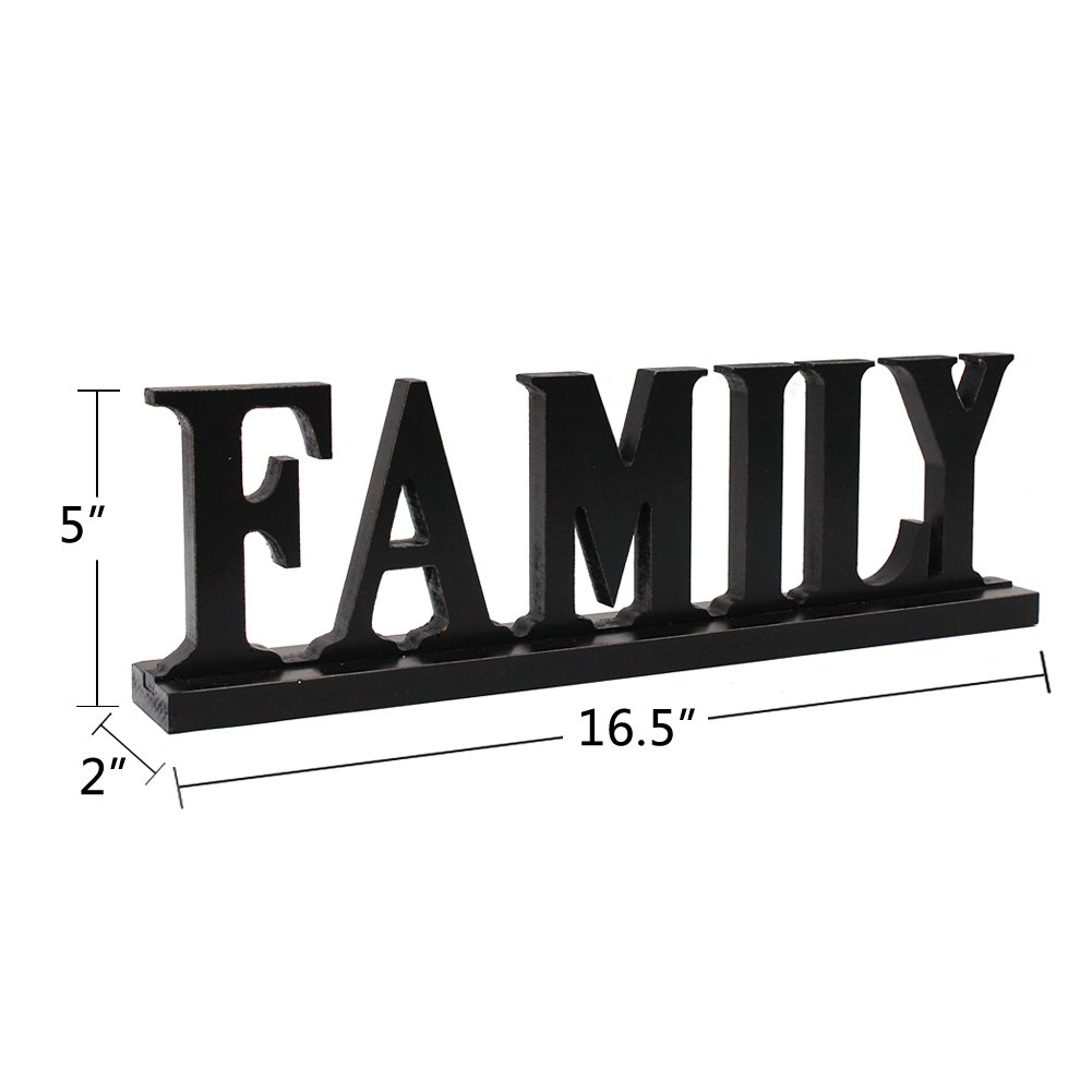 Amazon Com Family Sign For Home Decor Wooden Family Block Letters