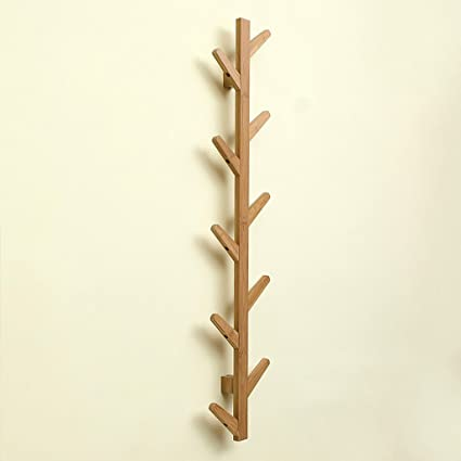 LXLA-Perchero Perchero Perchero Encima de Madera de bambú ...