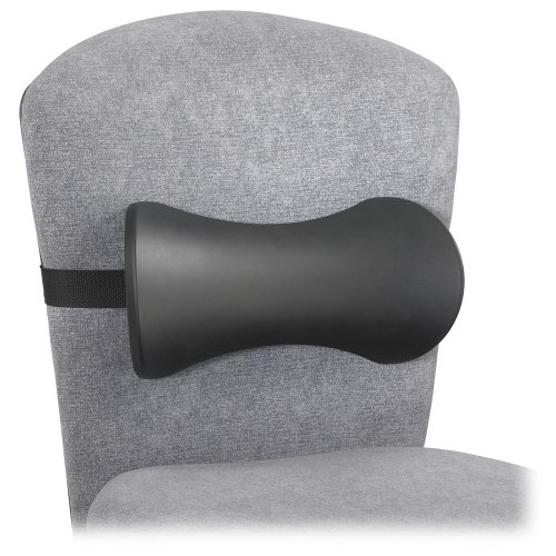 - Lumbar Support Memory Foam Backrest, 14-1/2w x 3-3/4d x 6-3/4h, Black